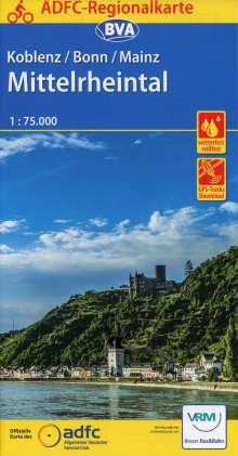 ADFC-Regionalkarte Koblenz/Bonn/Mainz Mittelrheintal 1:75.000, Diverse