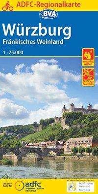 ADFC-Regionalkarte Würzburg Fränkisches Weinland mit Tagestouren-Vorschlägen, 1:75.000, Diverse