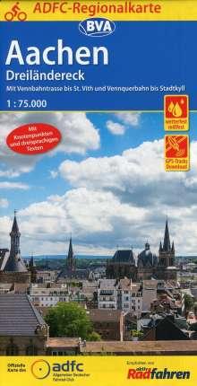 ADFC-Regionalkarte Aachen /Dreiländereck 1:75.000, Diverse