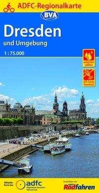 ADFC-Regionalkarte Dresden und Umgebung mit Tagestouren-Vorschlägen, 1:75.000, Diverse