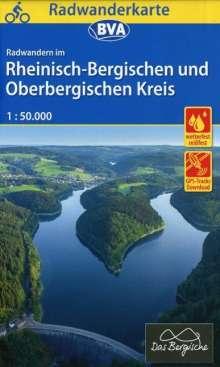 Radwanderkarte BVA Radwandern im Rheinisch-Bergischen und Oberbergischen Kreis 1:50.000, Diverse