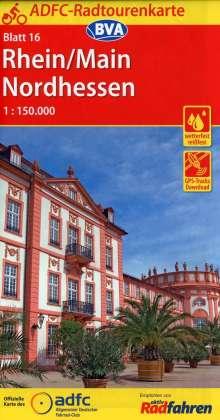 ADFC-Radtourenkarte 16 Rhein/Main Nordhessen 1:150.000, Diverse