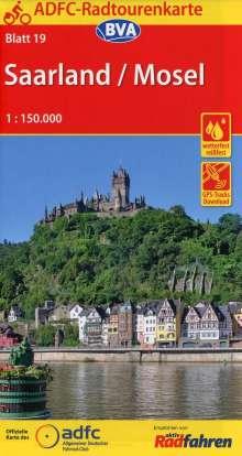 ADFC-Radtourenkarte 19 Saarland /Mosel 1:150.000, Diverse