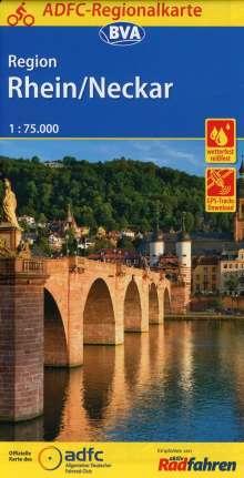 ADFC-Regionalkarte Region Rhein/Neckar, 1:75.000, Diverse