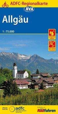 ADFC-Regionalkarte Allgäu 1:75.000, reiß- und wetterfest, GPS-Tracks Download, Diverse