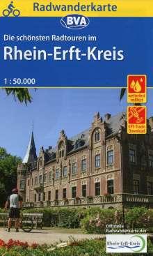 Radwanderkarte BVA Die schönsten Radtouren im Rhein-Erft-Kreis 1:50.000, reiß- und wetterfest, GPS-Tracks Download, Diverse