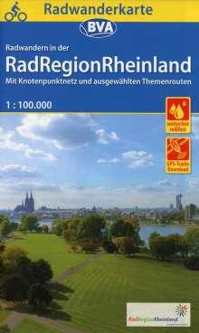 Radwanderkarte BVA RadRegionRheinland, 1:100.000, reiß- und wetterfest, GPS-Tracks Download, Diverse