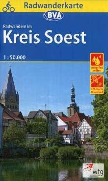 Radwanderkarte BVA Radwandern im Kreis Soest 1:50.000, Diverse