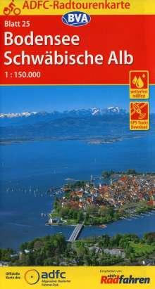 ADFC-Radtourenkarte 25 Bodensee Schwäbische Alb 1:150.000, Diverse