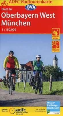 ADFC-Radtourenkarte 26 Oberbayern West / München 1:150.000, Diverse