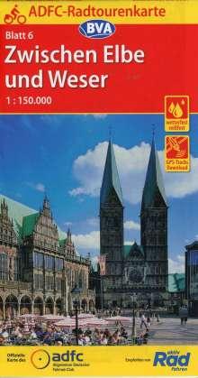ADFC-Radtourenkarte 06 Zwischen Elbe und Weser 1 : 150 000, Diverse