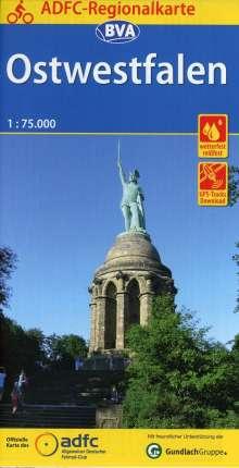 ADFC-Regionalkarte Ostwestfalen mit Tagestouren-Vorschlägen, 1:75.000, Diverse