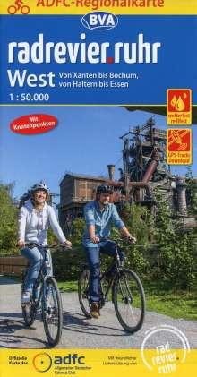 ADFC-Regionalkarte radrevier.ruhr West, 1:50.000, Diverse