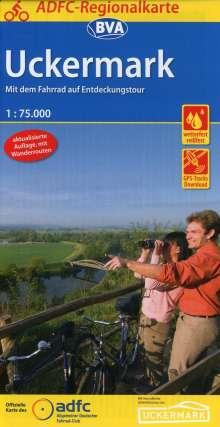ADFC-Regionalkarte Uckermark, 1:75.000, Diverse