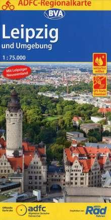 ADFC-Regionalkarte Leipzig und Umgebung / Leipziger Neuseenland, 1:75.000, Diverse