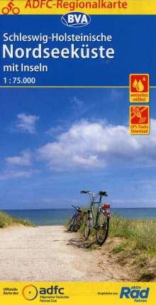 ADFC-Regionalkarte Schleswig-Holsteinische Nordseeküste mit Inseln mit Tagestouren-Vorschlägen 1:75.000, Diverse