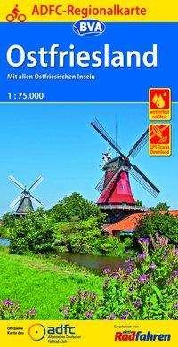 ADFC-Regionalkarte Ostfriesland, 1:75.000, Diverse