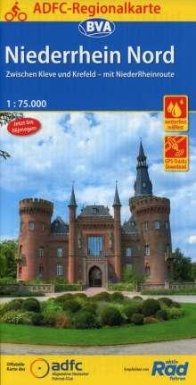 ADFC-Regionalkarte Niederrhein Nord mit Tagestouren-Vorschlägen, 1:75.000, Diverse