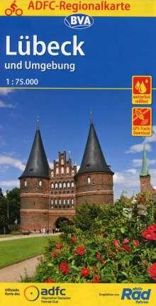 ADFC-Regionalkarte Lübeck und Umgebung, 1:75.000, Diverse