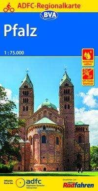 ADFC-Regionalkarte Pfalz mit Tagestouren-Vorschlägen, 1:75.000, Diverse