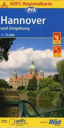 ADFC-Regionalkarte Hannover und Umgebung, 1:75.000, Diverse