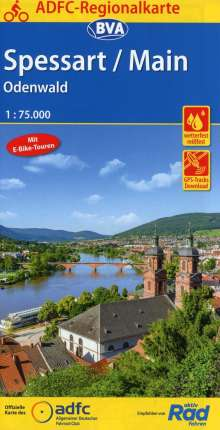 ADFC-Regionalkarte Spessart/Main/Odenwald, 1:75.000, Diverse