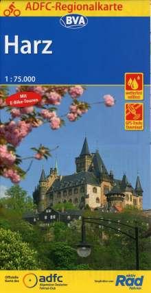 ADFC-Regionalkarte Harz, 1:75.000, Diverse