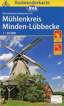 Radwanderkarte BVA Radwandern im Mühlenkreis Minden-Lübbecke 1:50.000, Diverse
