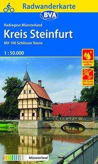 Radwanderkarte BVA Radregion Münsterland Kreis Steinfurt mit 100 Schlösser Route 1:50.000, Diverse