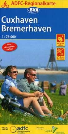 ADFC-Regionalkarte Cuxhaven Bremerhaven mit Tagestouren-Vorschlägen, 1:75.000, Diverse
