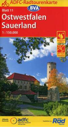 ADFC-Radtourenkarte 11 Ostwestfalen Sauerland 1:150.000, Diverse
