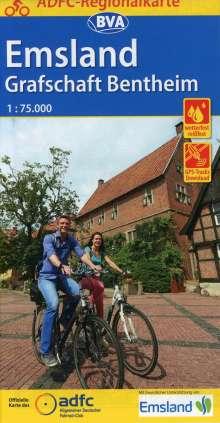 ADFC-Regionalkarte Emsland Grafschaft Bentheim mit Tagestouren-Vorschlägen 1:75.000, Diverse