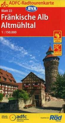ADFC-Radtourenkarte 22 Fränkische Alb Altmühltal 1:150.000, Diverse