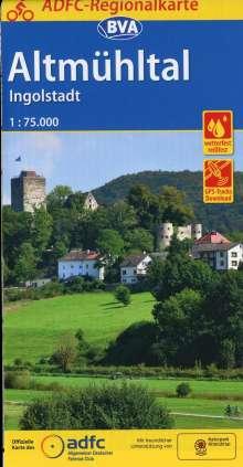 ADFC-Regionalkarte Altmühltal Ingolstadt, 1:75.000, reiß- und wetterfest, GPS-Tracks Download, Diverse