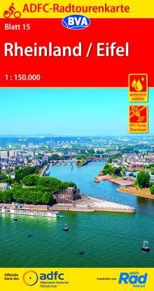 ADFC-Radtourenkarte 15 Rheinland /Eifel 1:150.000, reiß- und wetterfest, GPS-Tracks Download, Diverse