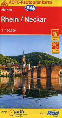 ADFC-Radtourenkarte 20 Rhein /Neckar 1:150.000, reiß- und wetterfest, GPS-Tracks Download, Diverse