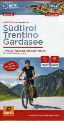 ADFC-Radtourenkarte 28 Südtirol, Trentino, Gardasee 1:150.000, reiß- und wetterfest, GPS-Tracks Download, Diverse