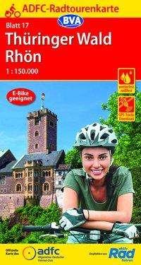 ADFC-Radtourenkarte 17 Thüringer Wald Rhön 1:150.000, reiß- und wetterfest, GPS-Tracks Download, Diverse