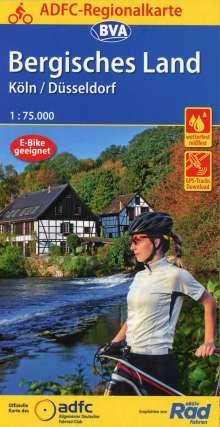 ADFC-Regionalkarte Bergisches Land Köln/Düsseldorf 1:75.000, reiß- und wetterfest, GPS-Tracks Download, Diverse