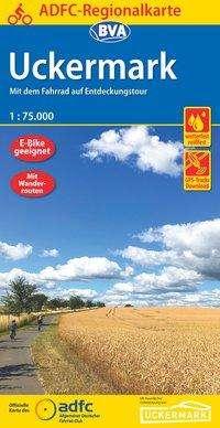 ADFC-Regionalkarte Uckermark, 1:75.000, reiß- und wetterfest, GPS-Tracks Download, Diverse