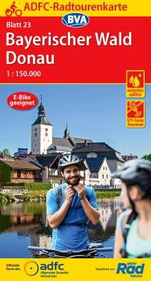 ADFC-Radtourenkarte 23 Bayerischer Wald Donau 1:150.000, reiß- und wetterfest, GPS-Tracks Download, Diverse