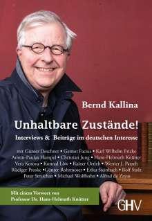 Bernd Kallina: Unhaltbare Zustände!, Buch