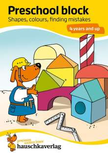 Linda Bayerl: Preschool block - Shapes, colours, finding mistakes 4 years and up, A5-Block, Buch