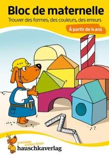 Linda Bayerl: Bloc de maternelle - Trouver des formes, des couleurs, des erreurs À partir de 4 ans, A5-Bloc, Buch
