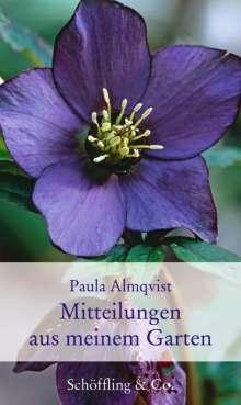 Paula Almqvist: Mitteilungen aus meinem Garten, Buch