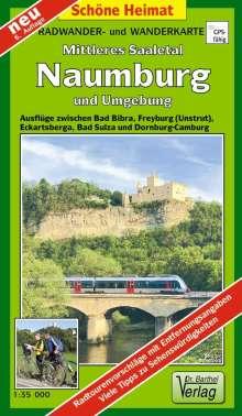 Naumburg, Mittleres Saaletal und Umgebung  1 : 35 000. Radwander- und Wanderkarte, Diverse