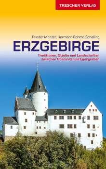 Frieder Monzer: Reiseführer Erzgebirge, Buch