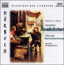 Kleist,Heinrich von:Sämtliche Anekdoten, CD