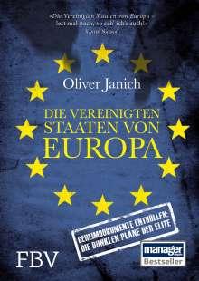Oliver Janich: Die Vereinigten Staaten von Europa, Buch