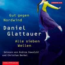 Daniel Glattauer: Gut gegen Nordwind / Alle sieben Wellen, 8 CDs